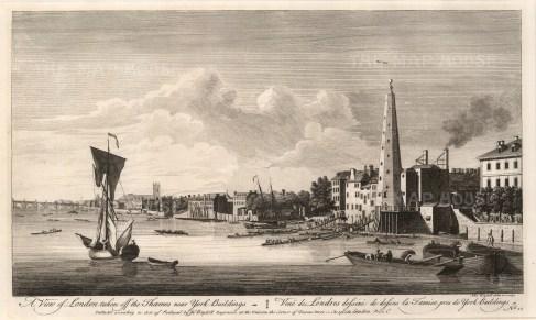Panoramic view from York Buildings (George Street): Looking towards Westminster.