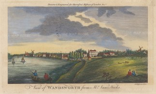 Wandsworth. View from Sir Gerard Van Neck's estate on the Putney riverside looking west.