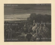 Hampstead Heath at Night. From the famous French artist's four year pilgrimage through London.