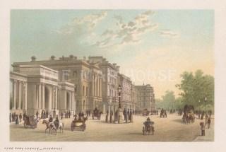 """Nelson: Hyde Park Corner. 1889. An original antique chromolithograph. 5"""" x 4"""". [LDNp10651]"""