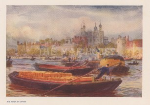 View from the Thames. After William Wyllie RA.
