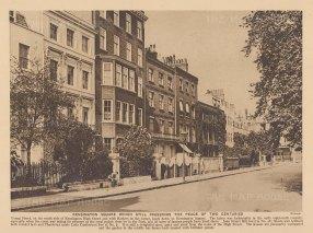 "Adcock: Kensington Square. 1927. An original vintage photo-lithograph. 9"" x 6"". [LDNp10825]"