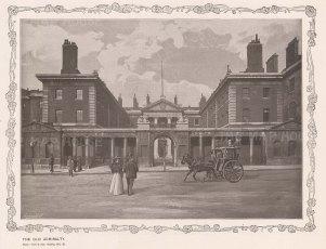 "York & Son: Admiralty House. c1890. An original black & white antique phot-lithograph. 9"" x 7"". [LDNp10841]"