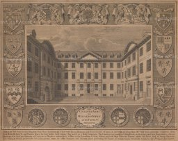 """White & Malton: Herald's Office, College of Arms. 1768. An original antique copper engraving. 20"""" x 15"""". [LDNp6084]"""