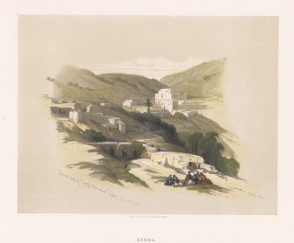 Lydda, (Lod). View over the ruins of the medieval church of St George rebuilt in 1871.