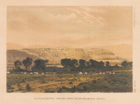 Truckee River: View of Pliocene Bluffs below Wandsworth.