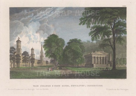 Newhaven: Yale College and the State House.