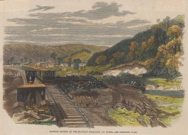 Franklin: Railway Station at the Franklin Petroleum Oil Works.