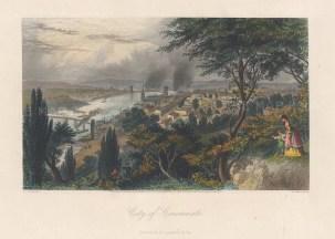 Cincinnati: Panoramic view of Cincinnati and Covington from Devou Park.
