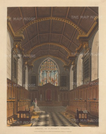 St. Peter's College or Peterhouse. Interior of the Chapel of the oldest college founded in 1284.