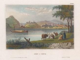"Meyer: Budapest, Hungary. 1840. A hand coloured original antique steel engraving. 6"" x 4"". [CEUp478]"