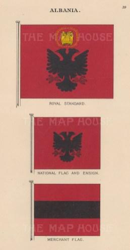 "Malby & Sons: Albania. c1930. An original vintage chromolithograph. 6"" x 9"". [CEUp523]"