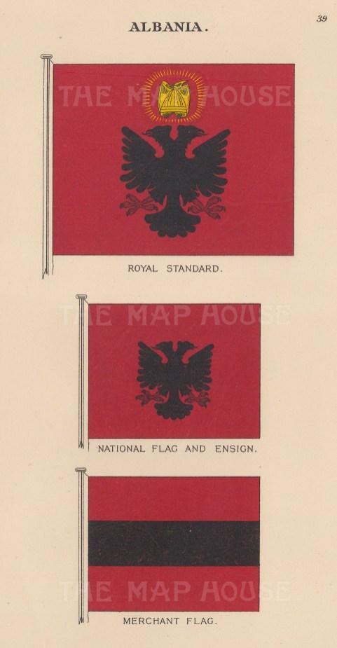 Royal Standard, Flag and Ensign, and Merchant Flag.