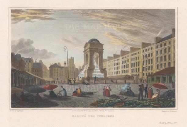 Place Joachim-du-Bellay: View of the Fontaine des Innocents.