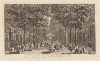 Versailles: View of the Chestnut Groves with its gallery of statues.