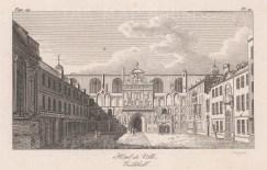 """Baugean: Guildhall. 1814. An original antique copper engraving. 6"""" x 4"""". [LDNp10051]"""