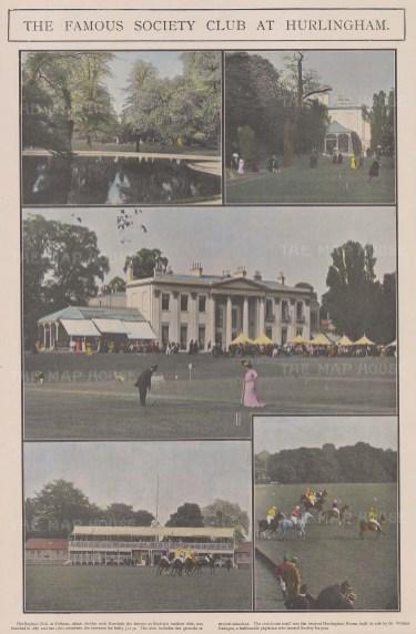 "The Sphere: Hurlingham Club. 1901. An original colour antique photo-lithograph. 14"" x 20"". [LDNp10127]"