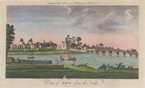 "Harrison: Kew. 1775. A hand coloured original antique copper engraving. 14"" x 7"". [LDNp10355]"