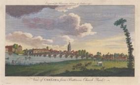 Chelsea from Battersea Church Yard.