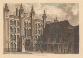 "Papworth: Guildhall. 1816. An original colour antique aquatint. 8"" x 6"". [LDNp6237]"