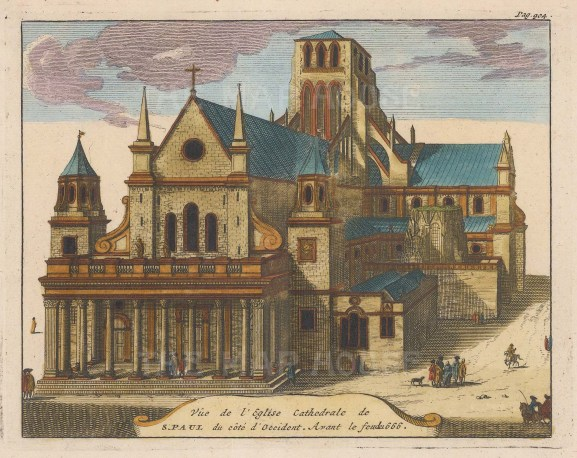 View of the Cathedral as it was before the fire of 1666.