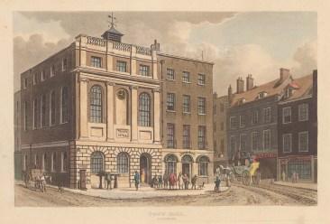 "Papworth: Southwark Town Hall. 1816. An original colour antique aquatint. 8"" x 5"". [LDNp6830]"