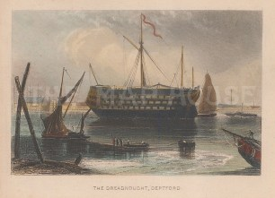 Deptford. The Dreadnought. The Greenwich Hospital ship.