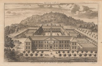 Blackheath. Aerial view of Morden College, founded in 1695 by the philanthropist John Morden.