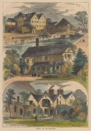 Views of Tottenham Mills, Rectory House, and the George & Vulture.