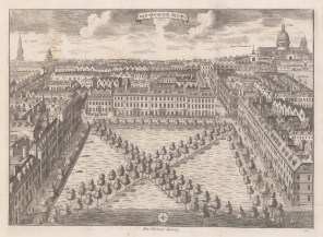 "Stow: Charterhouse Square. 1755. An original antique copper engraving. 19"" x 14"". [LDNp9622]"