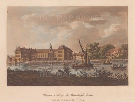 Chelsea Royal Hospital from the Thames with Ranelagh House.