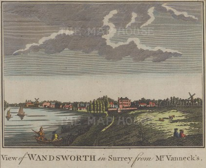 View of Wandsworth from the River Thames.
