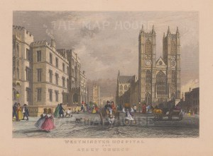 With Westminster Hospital to the left.