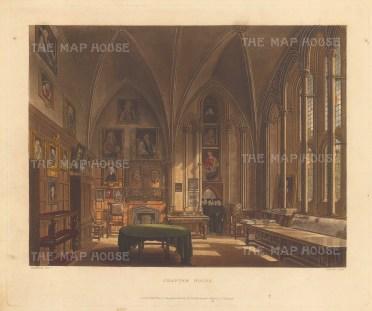 "Ackermann: Chapter House. 1814. An original colour antique aquatint. 10"" x 8"".[OXONp398]"