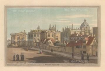 Broad Street. Looking towards the Clarendon building and Sheldonian Theatre. After John Farington.