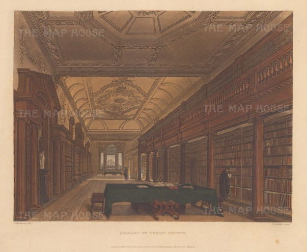 Interior of the library.
