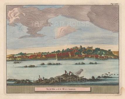 "van der Aa: Colross. 1727. A hand coloured original antique copper engraving. 6"" x 4"". [SCOTp1599]"