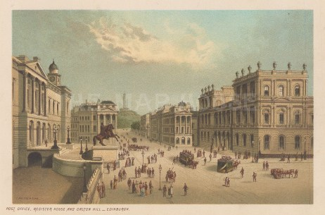 Post Office, Register House and Calton Hill.