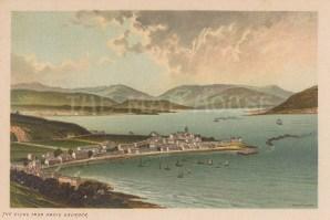 "Nelson: Clyde River, Gourock. c1890. An original antique chromolithograph. 5"" x 3"". [SCOTp1607]"