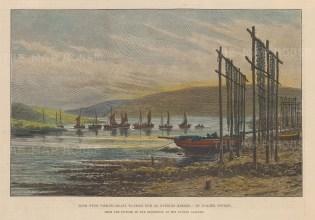 "Illustrated London News: Loch Fyne, Argyllshire. 1891. A hand coloured original antique wood engraving. 10"" x 7"". [SCOTp1654]"