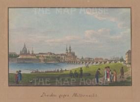 """Lamy: Dresden. 1820. An original colour antique aquatint. 5"""" x 4"""". [GERp73]"""