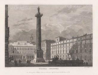 With the Column of Marcus Aurelius.