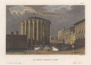 The Temple of Vesta at the eastern end.