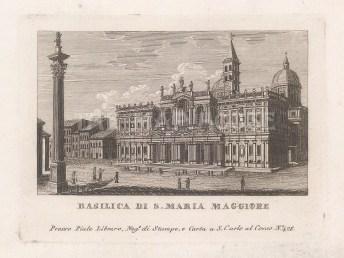 With the Colonna della Pace originally from the Basilica of Maxentius and Constantine.
