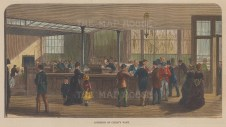 "Illustrated London News: Child's Bank. 1878. A hand coloured original antique wood engraving. 8"" x 6"". [LDNp10169]"