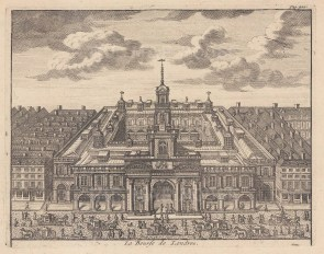 Designed by Edward Jarman to replace the exchange destroyed in the Great Fire of 1666.