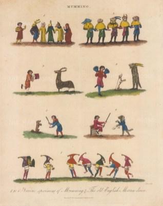 1-6. Pantomimes in disguise. 7. Morrice dancing.