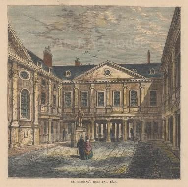 The quadrangle in 1840.