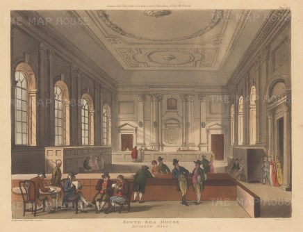 Dividend Hall. The South Sea Company, best know for the 'bubble' of 1720, was never successful in the South Sea trade but profited by the government converting successive portions of the national debt into South Sea Company shares.