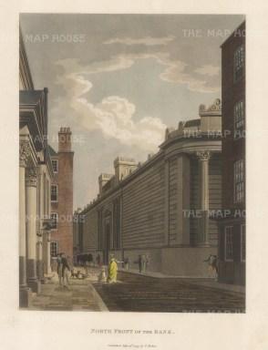 "Malton: Bank of England. 1792. A hand coloured original antique aquatint. 12"" x 15"". [LDNp3300]"